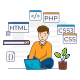 The Concept of Programmer Coding - GraphicRiver Item for Sale