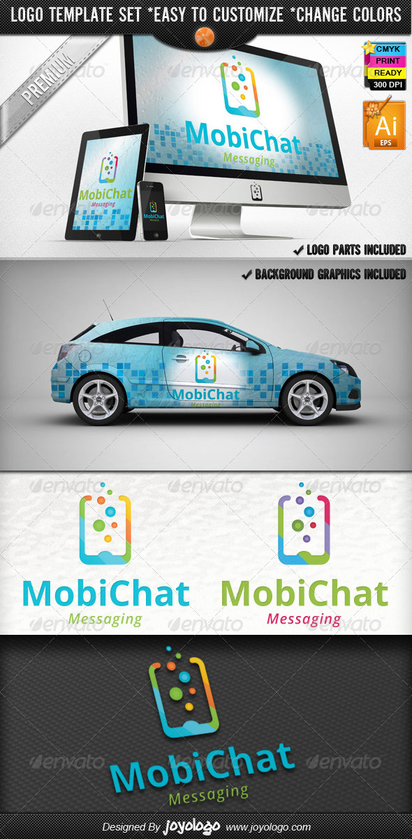 Cellular Phone Application Mobile Chat Logo Design