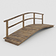 Bridge with one handrail - 3DOcean Item for Sale