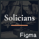 Solicians - Attorney Law Firm Figma Template - ThemeForest Item for Sale