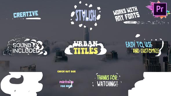 Urban Titles   Premiere Pro MOGRT