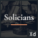 Solicians - Attorney Law Firm Adobe XD Template - ThemeForest Item for Sale