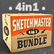 4-in-1 Sketch Master Photoshop Action Bundle - GraphicRiver Item for Sale