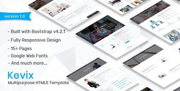 Kevix - Responsive Multipurpose Template