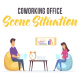 Coworking office - Scene Situation - VideoHive Item for Sale