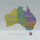 Australia State Map - 3DOcean Item for Sale