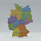 Germany State Map - 3DOcean Item for Sale