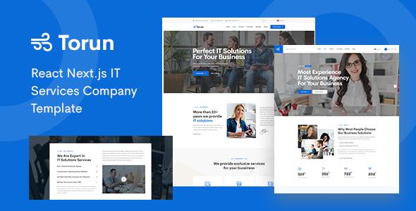 Torun - React Next.js IT Services Company Template