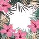 Square Summer Border with Tropical Palm Leaves - GraphicRiver Item for Sale
