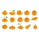 Orange Pumpkins in Flat Style Isolated on White - GraphicRiver Item for Sale