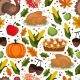 Happy Thanksgiving Day Seamless Pattern. Autumn - GraphicRiver Item for Sale