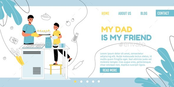 Father Day Weekend Pastime Landing Page Template