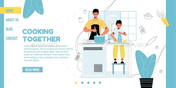 Cooking Master Class for Son Child Landing Page