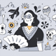 Day of the Dead Doodle Illustration - GraphicRiver Item for Sale