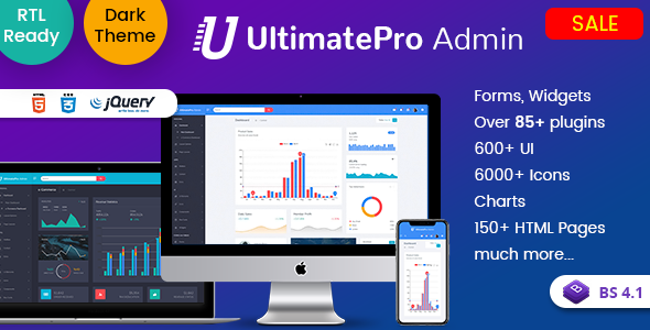 UltimatePro - Bootstrap 4 Admin Dashboard Templates and WebApps