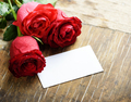 Valentine roses and card - PhotoDune Item for Sale