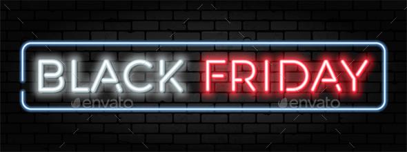Black Friday Sale Neon Frame