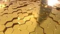 Golden Hexagon Background - PhotoDune Item for Sale