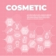 Cosmetic Pink Background with Icons and Signs - GraphicRiver Item for Sale