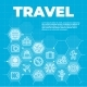 Travel and Tourism Blue Background with Icons - GraphicRiver Item for Sale