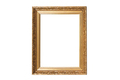 Golden vintage frame isolated on white background - PhotoDune Item for Sale