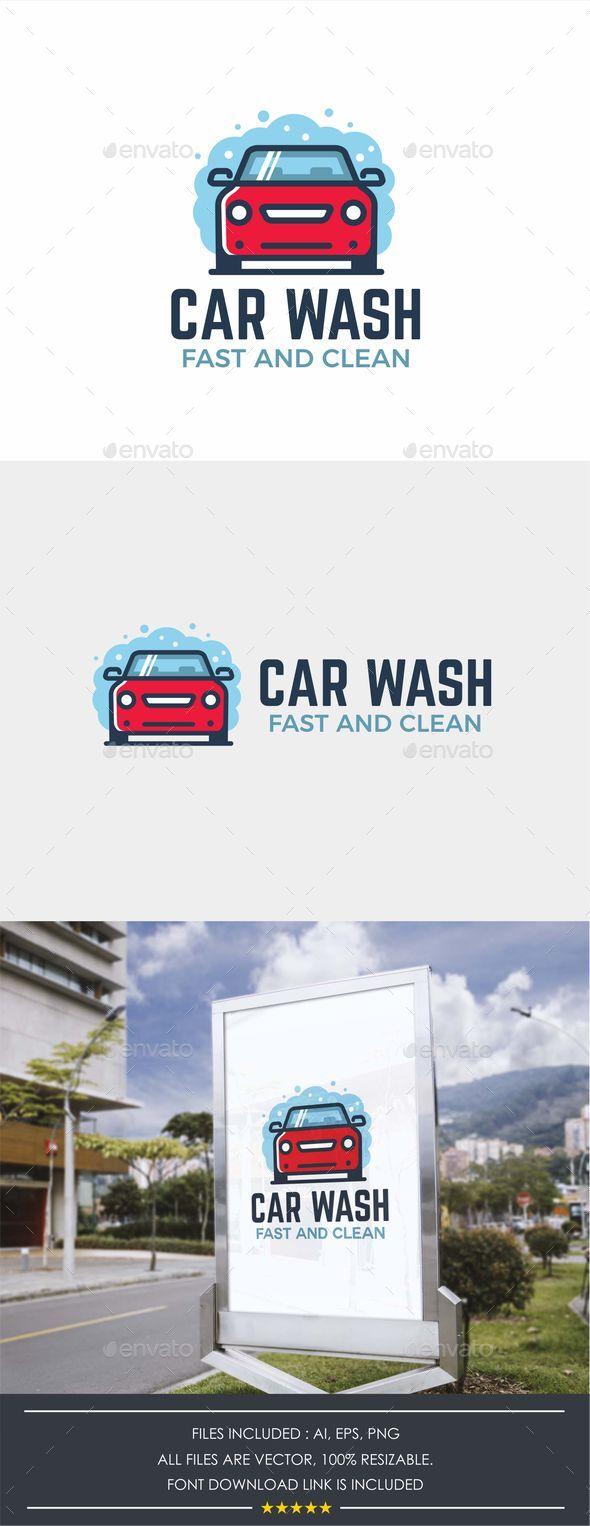 Modern Car Wash Logo Template
