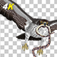 Snake Eagle with Caught Serpent - 4K Flying Transition - II - VideoHive Item for Sale