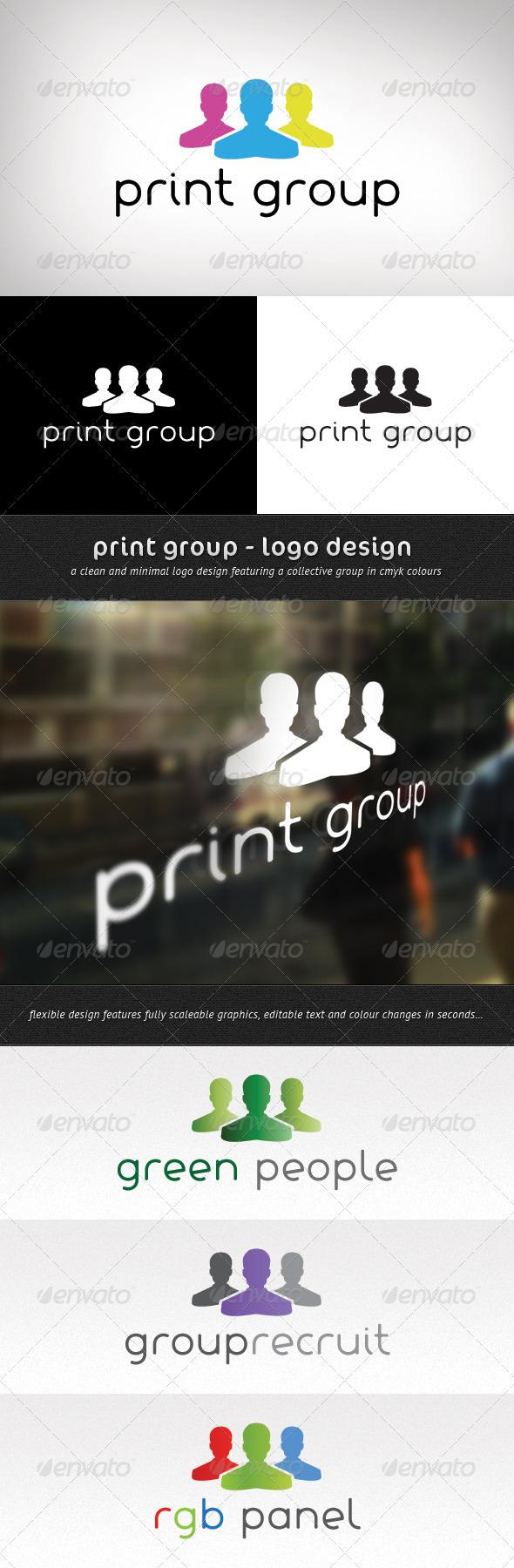 Print Group Logo Design