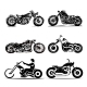 Chopper Motorcycle Silhouette Classic Road - GraphicRiver Item for Sale