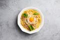 Italian pasta carbonara on a concrete gray background - PhotoDune Item for Sale