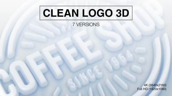 Clean Logo 3D (7-Pack)