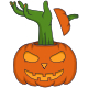 Zombie's Hand Came Out of The Pumpkins - GraphicRiver Item for Sale