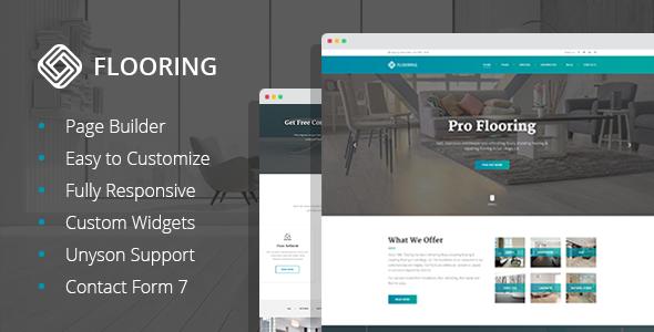 Flooring - Floor Repair & Refinish WordPress Theme
