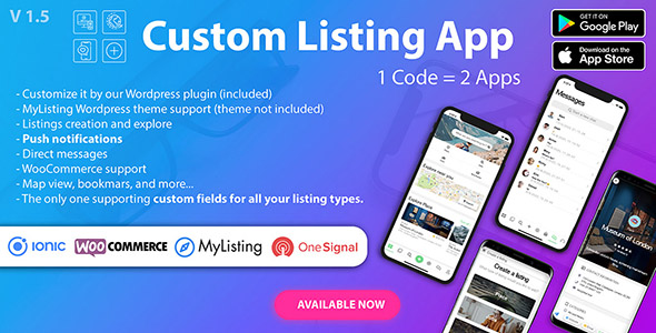 main envato 2 - Custom Listing App - Android and iOS Ionic 5 directory mobile app compatible with MyListing Theme