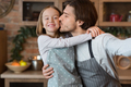 Father's Love. Loving Dad Taking Selfie With Little Daughter In Kitchen - PhotoDune Item for Sale