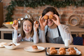 Playful Dad And His Little Daughter Fooling While Baking In Kicthen Together - PhotoDune Item for Sale