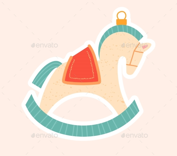 Christmas Tree Decoration of a Rocking Horse