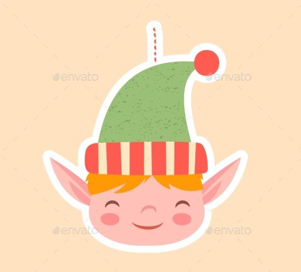 Cute Little Elf Christmas Tree Ornament
