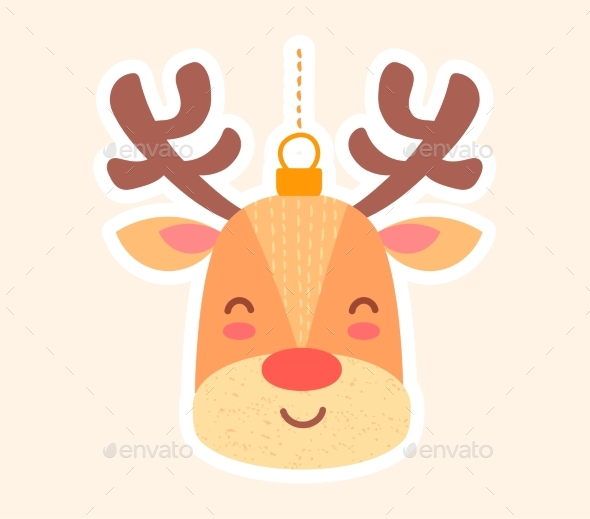 Festive Christmas Toy Reindeer for the Tree