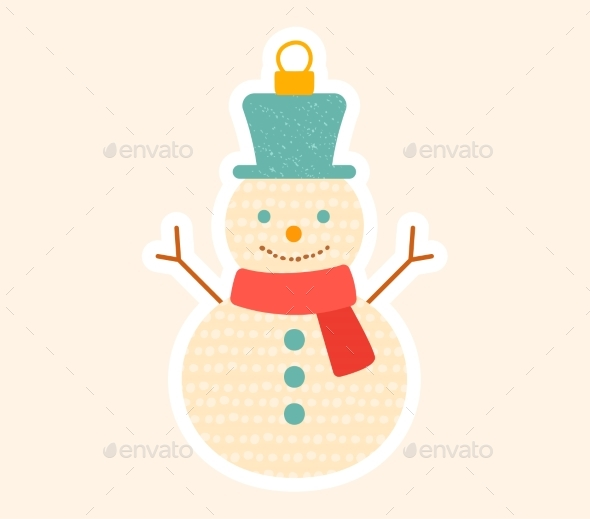 Decorative Little Christmas Snowman Tree Ornament