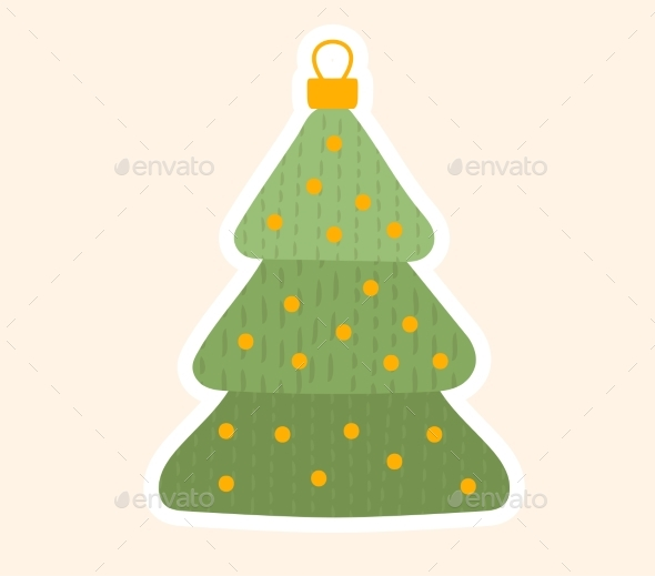Traditional Christmas Tree Toy for the Holidays