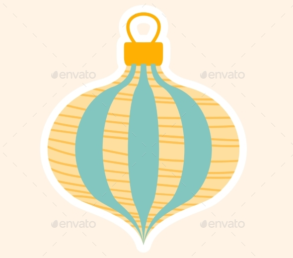 Festive Blue and Gold Christmas Tree Decoration