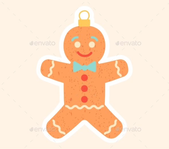 Cute Little Gingerbread Man Christmas Toy