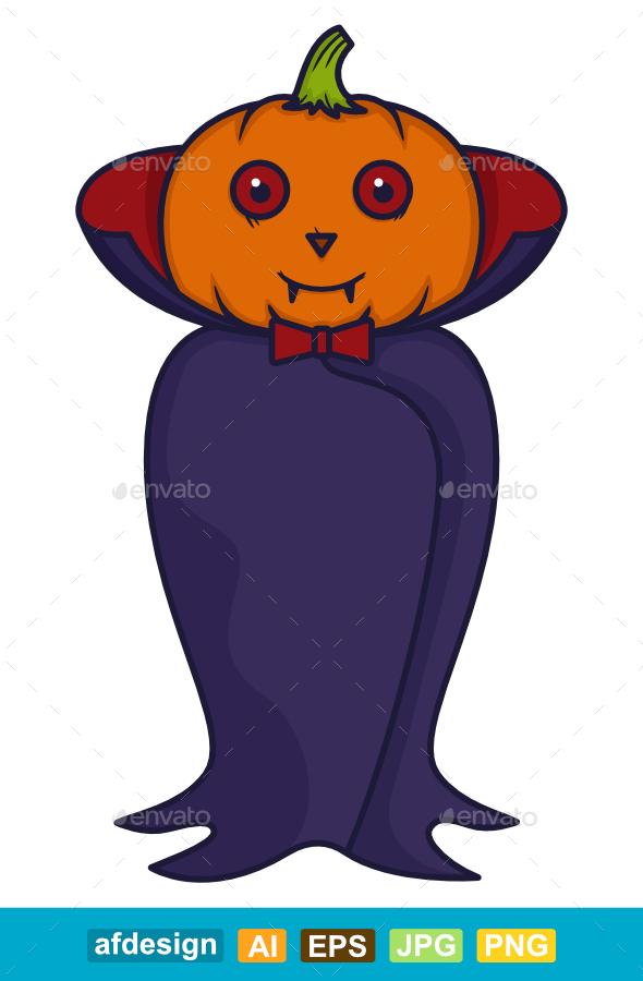 Halloween Vampire Pumpkins