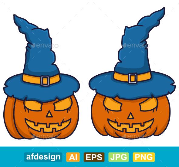 Witch Pumpkins Halloween