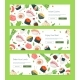 Asian Cuisine - Colorful Flat Design Style Banners - GraphicRiver Item for Sale