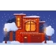 Christmas House Decorated with Luminous Street - GraphicRiver Item for Sale