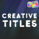 Creative Titles Pack | FCPX - VideoHive Item for Sale