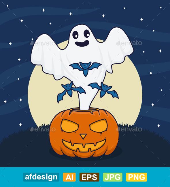 Ghost Pumpkins Halloween