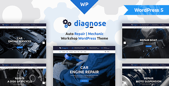 Diagnose - Auto Repair Services WordPress Theme